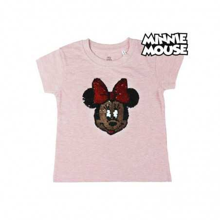 Camiseta Minnie Rosa Con...
