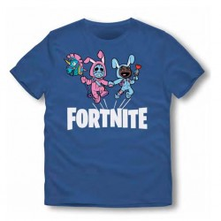 Camiseta Corta Fortnite Azul