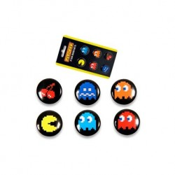 Set de 6 Pin Icono Pac-man