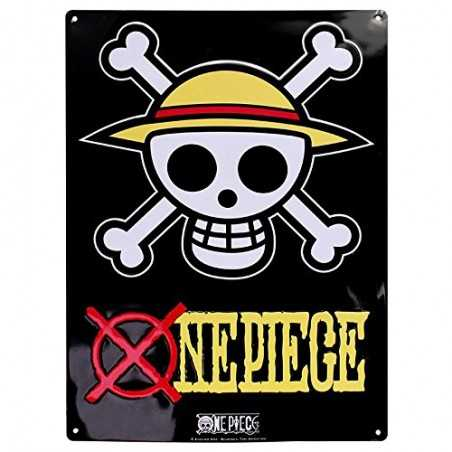 One Piece Placa de Metal...