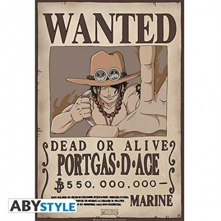 One Piece Poster Wanted Ace