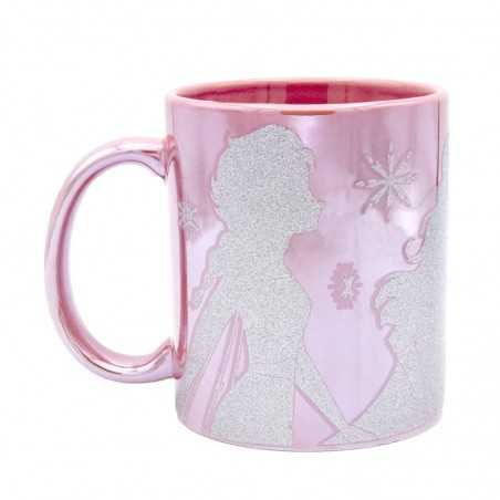 Taza Disney con purpurina...